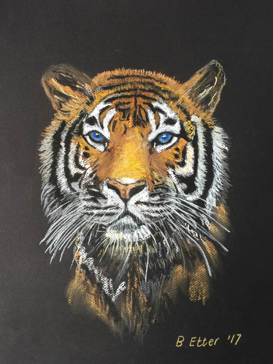 Tiger in pastel