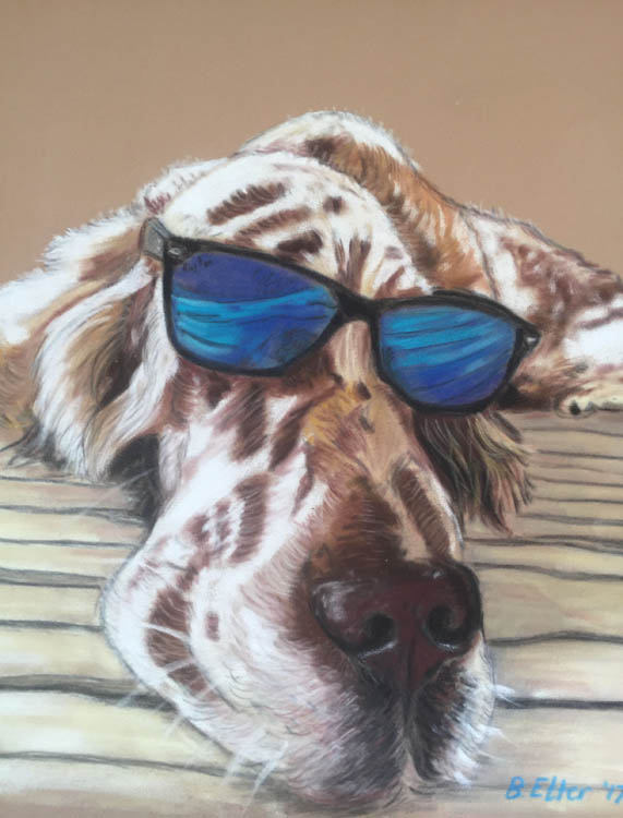 Dog in Sunglasses Drawing