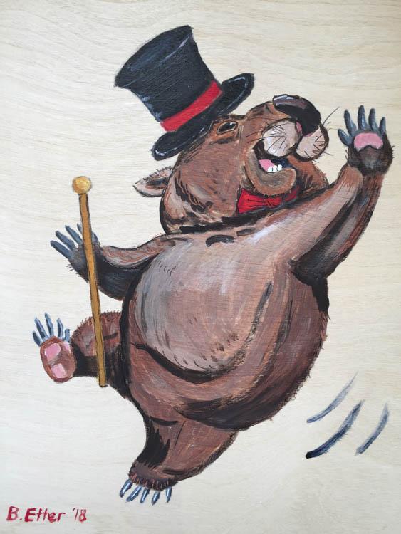 dancing wombat