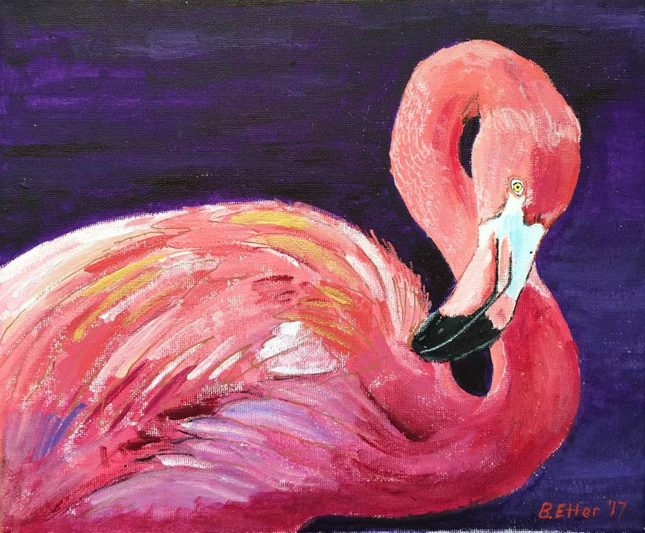 flamingo acrylic
