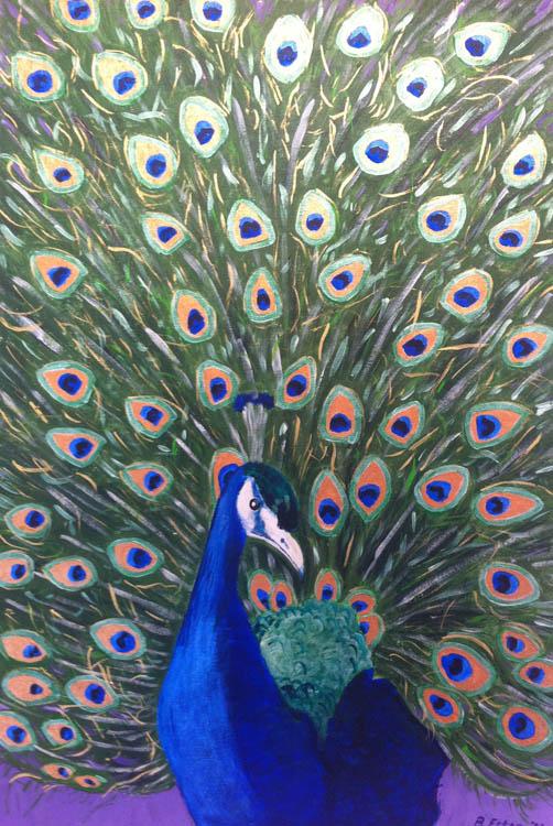 peacock acrylic