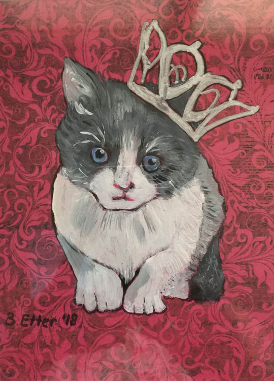 pussy princess acrylic