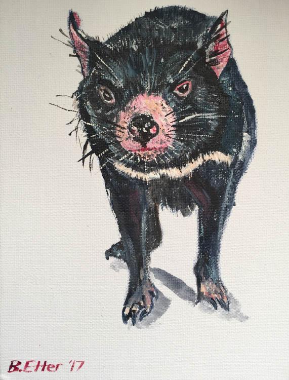 tassie devil portrait
